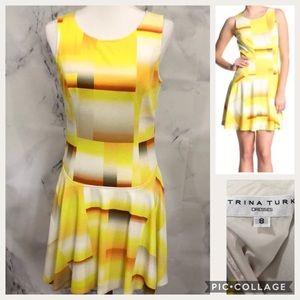 Trina Turk Cube Design llani Ombré yellow Dress
